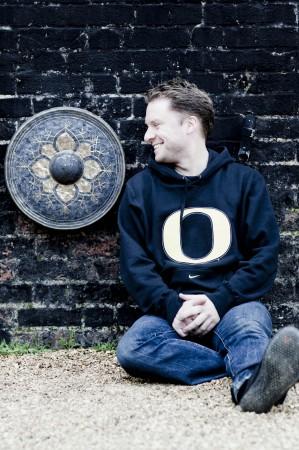 Colin Currie shows his Oregon spirit. Photo: Marco Borggreve