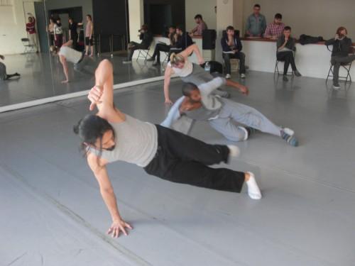 BodyVox-2 rehearsing Eowyn Barrett's dance/BodyVox