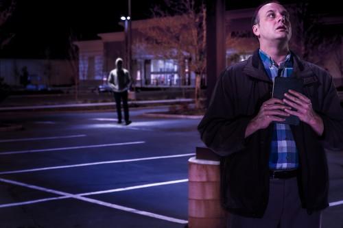 Lee-Hillstrom (background) and True: alone together. Photo: Owen Carey