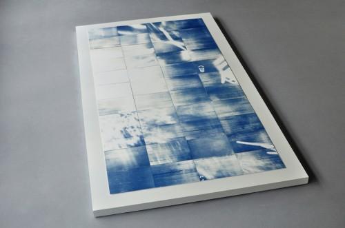 "Evan La Londe, ""Shadows (Even When the Light Has Gone),"" 2012, forty-four unique cyanotype prints. Image courtesy the artist."