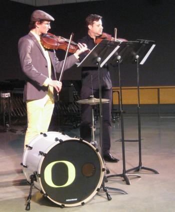 "Wild Nights Cafe: Performance of Avery Pratt's ""Beach Volleyball"" with Avery Pratt (viola I) and Brett Banducci (viola II)"