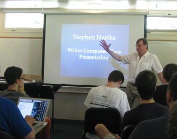 Professional Seminar: Dr. Stephen Hartke speaking on music and the English language.