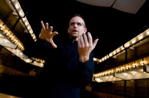 Craig Hella Johnson, of the Austin-based Conspirare choral ensemble, led the American Composers Chorus.