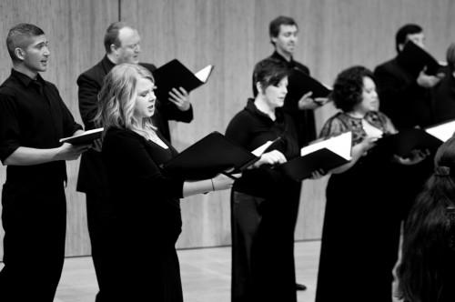 Resonance Ensemble sang Benjamin Britten's music at Portland State University. Photo: Rachel Hadiashar.