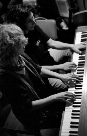 Gulchin Tarabus and Maria Choban at Classical Revolution PDX. Photo: Gary Stallsworth.