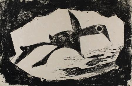 "Amanda Snyder (1894-1980, ""Going Home,"" relief print/Portland Art Museum"