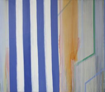 "Betty Merken Impromptu Ultramarine  2014 oil on canvas 60"" x 68"""