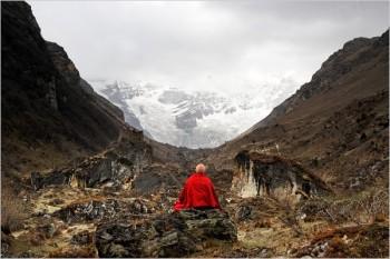 "Matthieu Ricard ""The Jango Thang plain and the Jomolhari glacier"" Bhutan, 2007 c-print 6 1/4"" x 9 1/2"""
