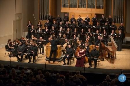 Matthew Halls led performances of his reconstruction of Bach's St. Mark Passion. Photo: Jon Christopher Meyers.