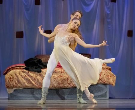 "Ansa Deguchi and Brian Simcoe in James Canfield's ""Romeo and Juliet"" pa de deux. Photo: Blaine Truitt Covert"
