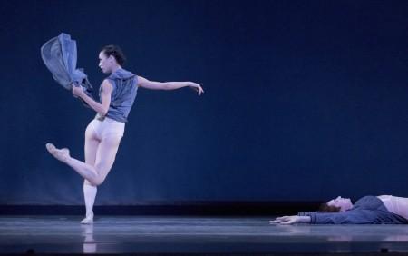 "Xuan Cheng and Michael Linsmeier in Trey McIntyre's ""Robust American Love."" Photo: Blain Truitt Covert"