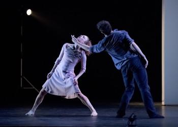 "Samantha Campbell and Elijah Labay in Sarah Slipper's ""Casual Act."" Photo: Blaine Truitt Covert"