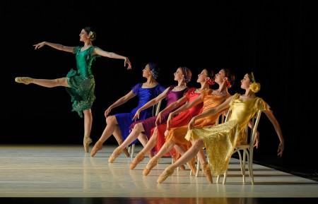 """Crayola,"" from left: Kimberly Nobriga, Samantha Allen, Jessica Lind, Emily Parker, Shea McAdoo, Paige Wilkey. Photo: Yi Yin"