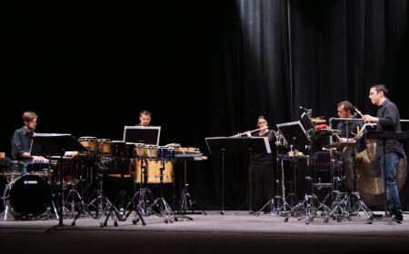 Percussion and flute combine in Saturday's Portland Percussion Group concert.