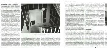 An installation of Willem Oorebeek's Blackouts, as documented in the newspaper, De Witte Raaf.