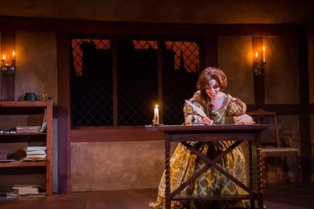 Maureen Porter as playwright, spy, and al-around quizzical kid. Photo: Owen Carey
