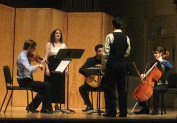 Soprano Esteli Gomez performs music by young composers. Photo: G. Ferrington.