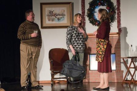 Helen Funston (Viva), Bobby Jackson (Dad), Sadie Gregg (Mom) in 'Viva's Holiday.' Photo: Jessica Beer.