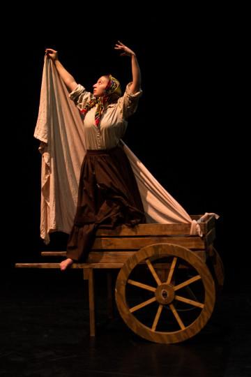 "Sam Reiter as The Maiden Tsar in ""Baba Yaga."" Photo: Trevor Sargent"
