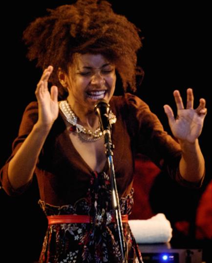 "Esperanza Spalding, in Lynn Darroch's ""Rhythm in the Rain"": back to the roots. Photo: Andrea Mancini"
