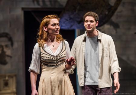 DeBuys as Nina, Holcomb as Conrad: love's labors lost? Photo: Patrick Weishampel/blankeye.tv