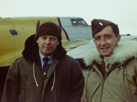 Thomas McCormick, the grandfather of filmmaker Matt McCormick, posing with aviation legend Charles Lindbergh