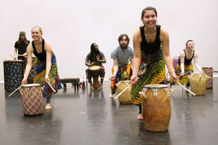 Dema Ensemble performs at the University of Oregon.