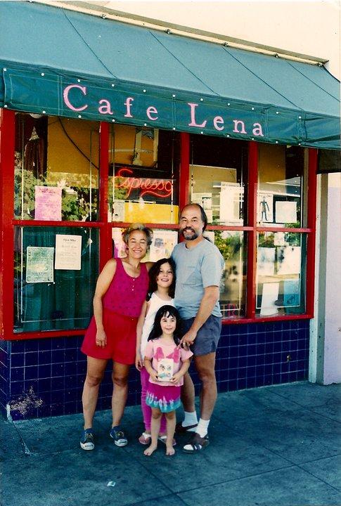 Grabel, Sander, and kids: Lena was a family affair. Photo courtesy Leanne Grabel.