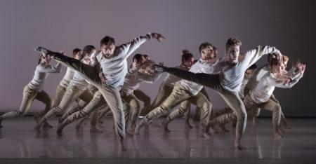 "Yin Yue's ""Distant Fold"" for Northwest Dance Project.  Dancers: Franco Nieto + Kody Jauron +Company/Photo by Blaine Truitt Covert"