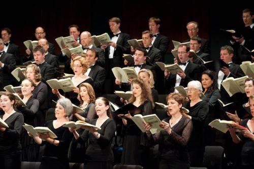 The festival chorus, bringing it all home. Photo: Oregon Bach Festival