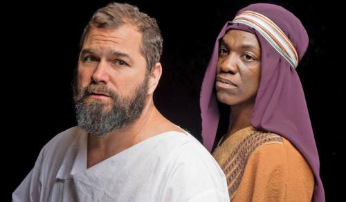 Ernie Lijoi as Jesus and Ithica Tell as Judas. Photo: Greg Parkinson