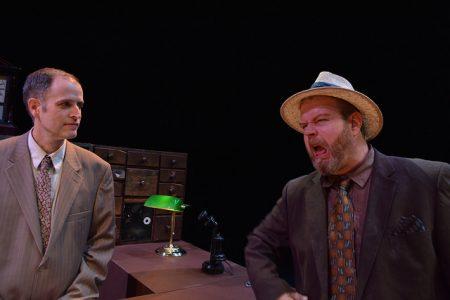 Sean Doran and Todd Van Voris in Imago's 'Hughie.'