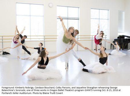 "Oregon Ballet Theatre,studio rehearsal,""Serenade"",choreography by George Balanchine"