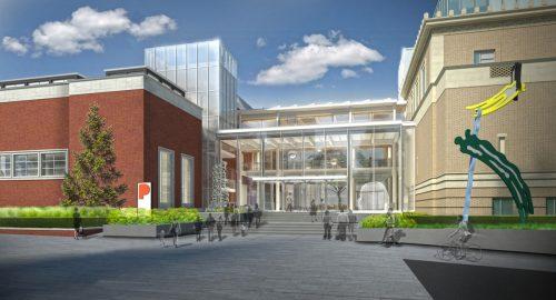 Artist's rendering of the new Rothko Pavilion, from Southwest Park Avenue.