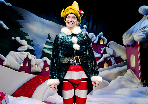 "A right jolly old elf: Jim Lichtscheidl in ""The Santaland Diaries"" at Portland Center Stage"