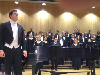 Ethan Sperry directs the Oregon Repertory Singers in their fall concert.