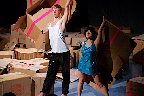 "Robert Tyree and Lucy Yim dance Tahni Holt's ""SUN$HINE""/Jeff Forbes"