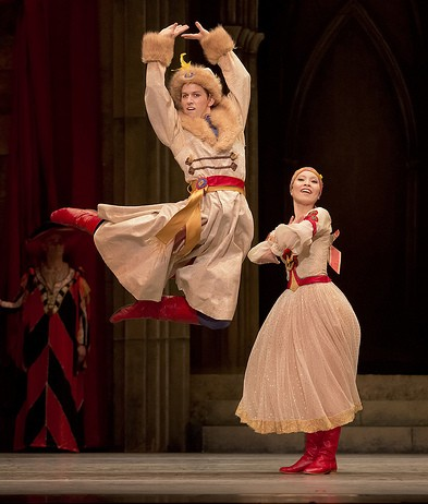 Adam Hartley and Makino Hayashi in the Czarda dance. Photo: Blaine Truitt Covert