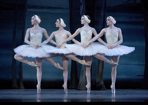 From left: Ansa Deguchi, Julia Rowe, Kelsie Nobriga, Ashlay Dawn, Act II pas de quatre. Photo: Blaine Truitt Covert
