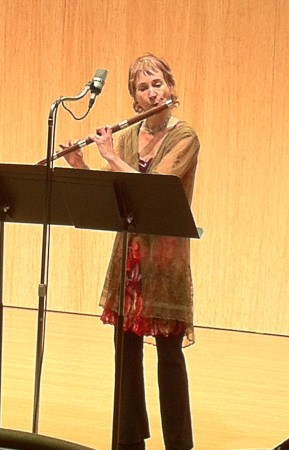 Flutist Tessa Brinckmann performs in Corvallis Saturday.