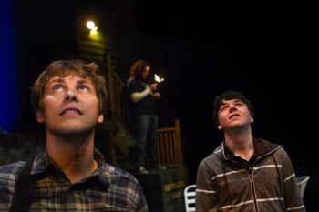 """Chris Murray and Bryce Earhart in """"The Aliens""""/Third Rail Rep"""