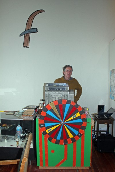 """The curator/janitor of The Faux Museum, Tom """"Faux"""" Richards/Photo by Patrick Collier"""