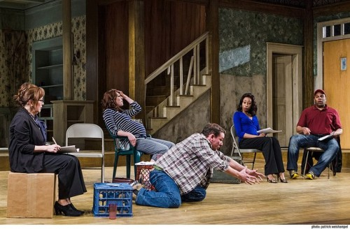 "Sharonlee McLean, Gavin Hoffman, Kelley Curran, Brianna Horne and Kevin R. Free in ""Clybourne Park."" Photo: Patrick Weishampel."
