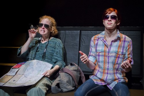 "Artists Repertory Theatre will use its OCF grant to fund a new-play development program. Above, Dana Millican and Danielle Purdy star in the world premiere of  Andrea Stolowitz's ""Ithaka""/Owen Carey"