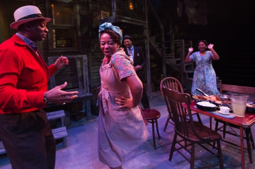 """Artists Rep's """"Seven Guitars"""" last year was one in a series  of popular revivals of August Wilson plays in Portland. From left: Michael J. Asberry, Ramona Lisa Alexander, Lance McQueen, Gayle Samuels. Photo: Owen Carey"""