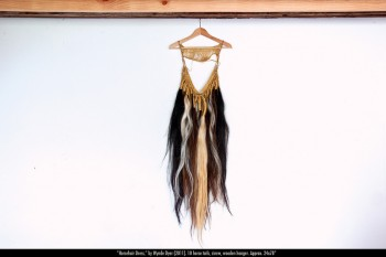 """Wynde Dyer's """"Horsehair Dress,"""" on view at First Friday, seems a worthy aside in this discussion."""