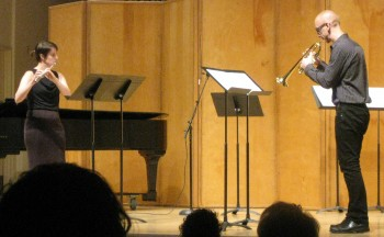 """Living Music Now concert series: Performance of Joseph Stillwell's """"Scherzo"""" with Sarah Pyle (flute) and Brian McWhorter (trumpet)"""