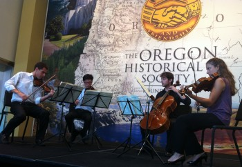 The Dover Quartet performs at Chamber Music Northwest.