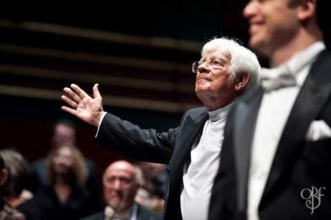 Helmuth Rilling takes his final bows as artistic director of the Oregon Bach Festival this weekend.