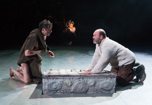 """Jack Willis, right, as Lear and  Benjamin Pelteson as Edgar in """"King Lear""""/Jenny Graham"""